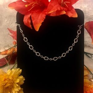 "Stamped Sterling Silver 15"" Chain"